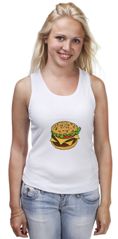 "Майка классическая ""Гамбургер"" - гамбургер, сэндвич, fast food"