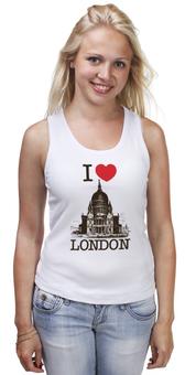 "Майка классическая ""Я люблю Лондон"" - лондон, англия, i love london, британия, я люблю"