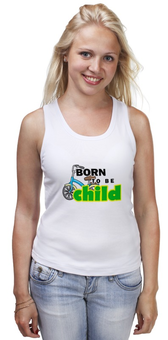 """Майка классическая """"Born to be Child """" - велосипед, ребенок, сын, неуправляемый, непослушный"""
