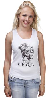 """Майка классическая """"SPRQ: Legion"""" - история, spqr, путь воина, гесс, римская империя"""