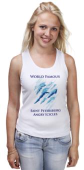"Майка классическая ""Angry Icicles"" - питер, оригинально, осторожно, креативно, saint petersburg, сосули, angry icicles"
