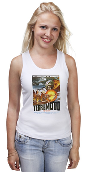 "Майка классическая ""Terremoto"" - винтаж, динозавры, афиша, kinoart, легенда о динозавре"