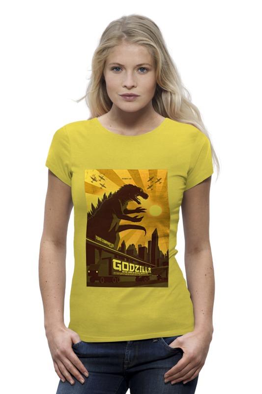 Футболка Wearcraft Premium Printio Godzilla yellow