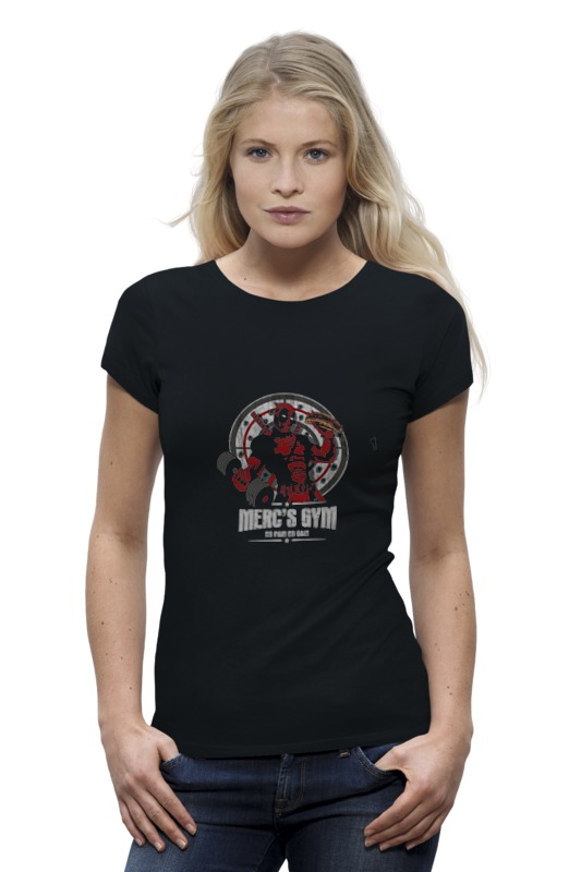Футболка Wearcraft Premium Printio Deadpool merc gym