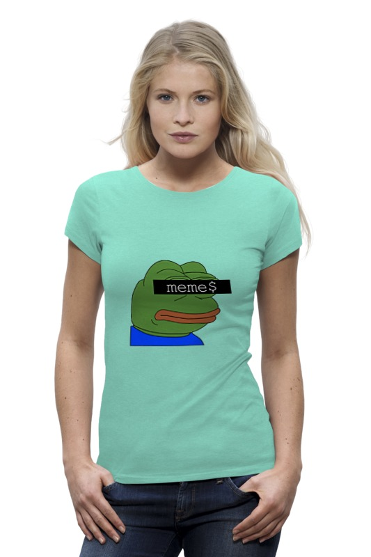 Футболка Wearcraft Premium Printio Pepe t-shirt женская футболка other t tshirt 2015 blusas femininas women tops 1