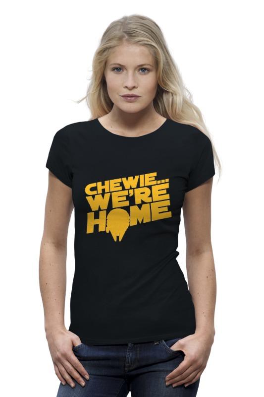 Printio Chewie we're home (star wars) футболка wearcraft premium slim fit printio chewie we re home star wars