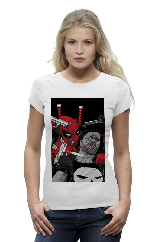 Футболка Wearcraft Premium Printio Deadpool vs punisher плакат a3 29 7x42 printio deadpool vs punisher