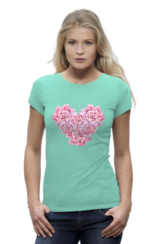 Футболка Wearcraft Premium Printio Сердце из пионов футболка wearcraft premium printio лепестки