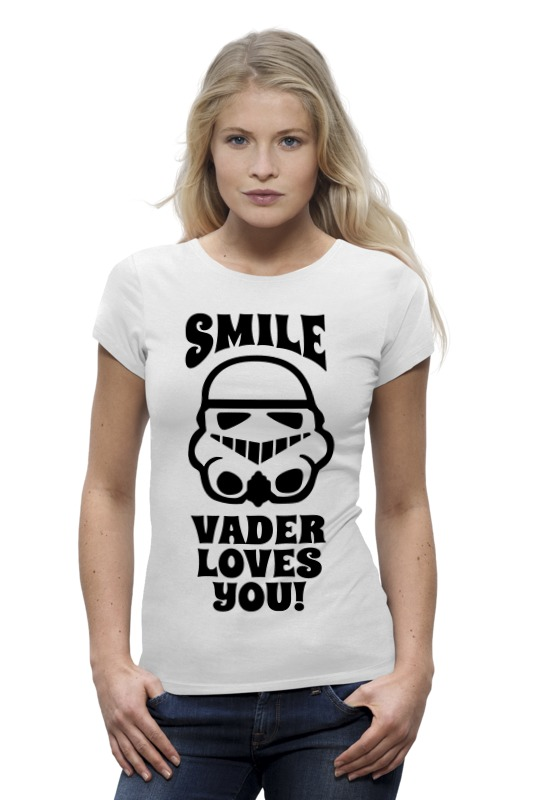 Футболка Wearcraft Premium Printio Smile, vader loves you! clothing loves s