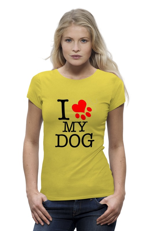 Футболка Wearcraft Premium Printio I love my dog