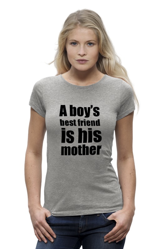 Футболка Wearcraft Premium Printio A boy's best friend is his mother alliluyeva s twenty letters to a friend a memoir