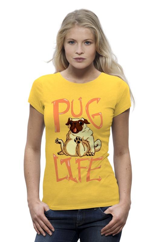 Футболка Wearcraft Premium Printio Pug life футболка wearcraft premium printio mrs pug