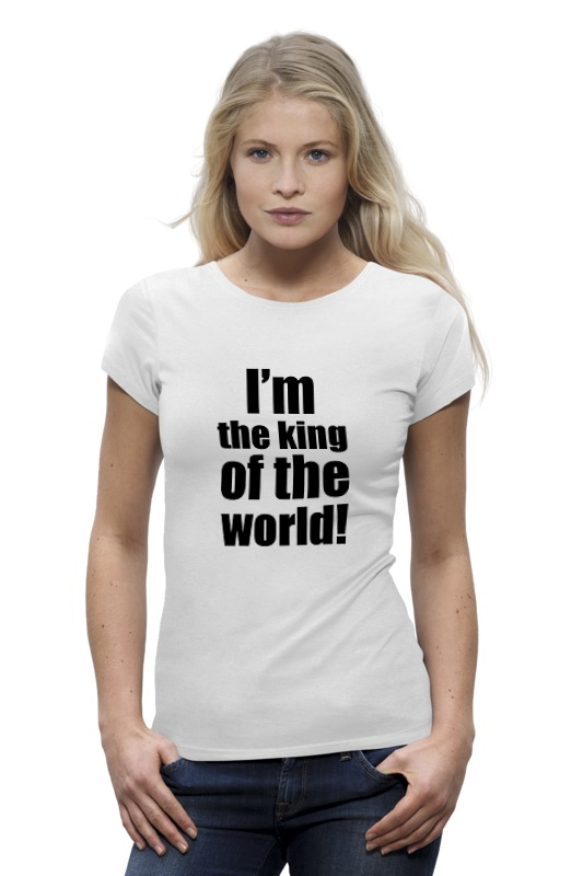 Футболка Wearcraft Premium Printio I'm the king of the world! цена и фото
