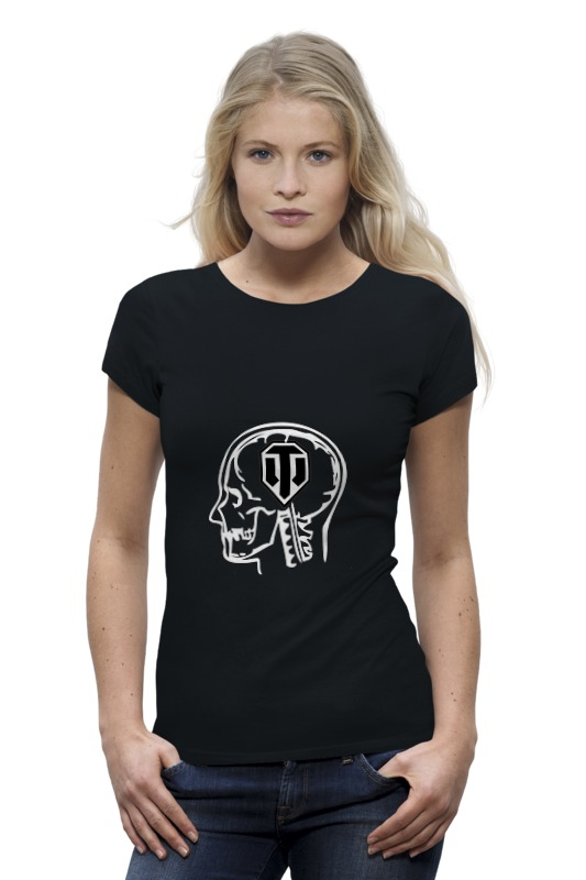 Футболка Wearcraft Premium Printio Skull wot