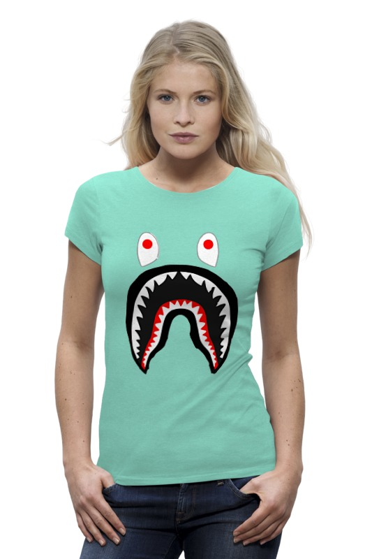 Футболка Wearcraft Premium Printio Bape shark цена