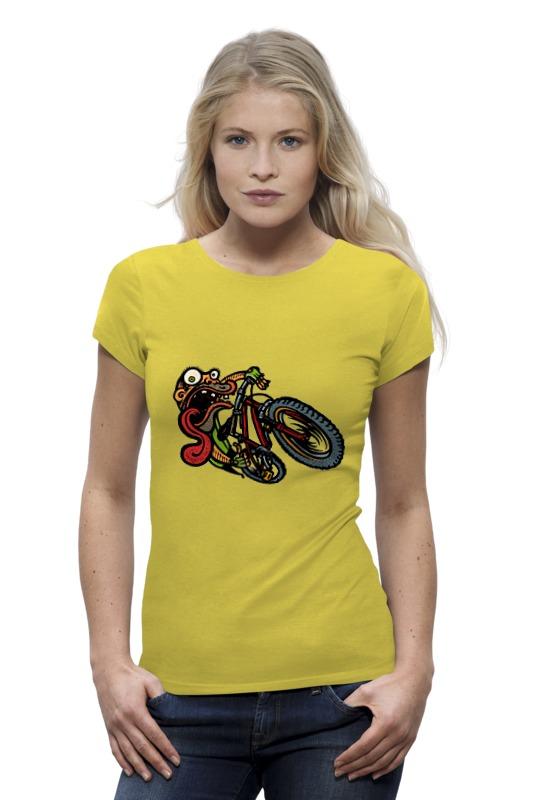 цена на Футболка Wearcraft Premium Printio Зомби на велосипеде