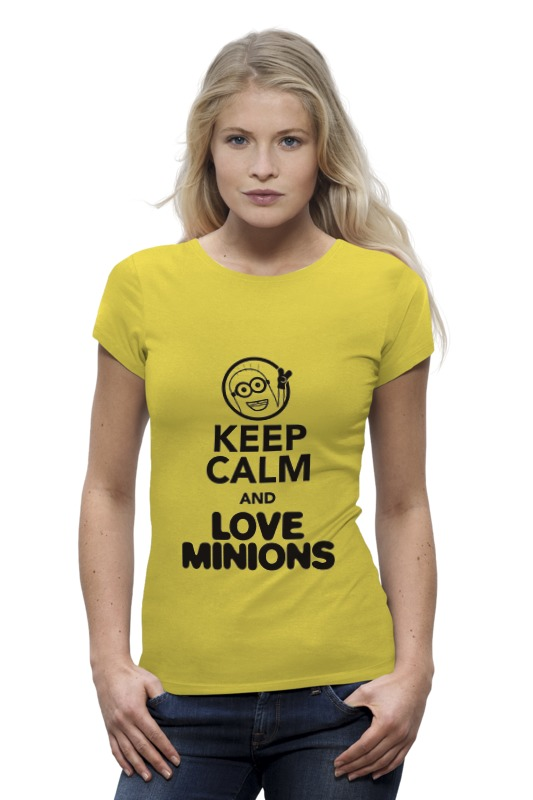 Футболка Wearcraft Premium Printio Keep calm & love minions футболка wearcraft premium printio keep calm i am 1 1