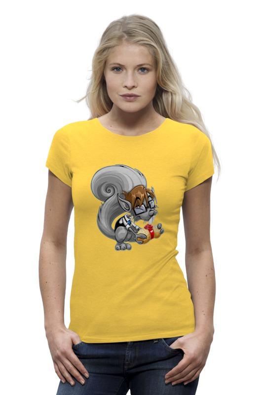 Футболка Wearcraft Premium Printio Белка с орехом футболка классическая printio белка с орехом