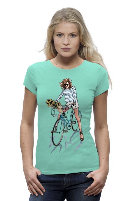 Футболка Wearcraft Premium Printio Девушка с цветами футболка wearcraft premium printio муравьед с цветами