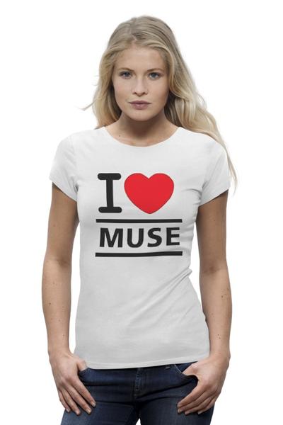 """Футболка Wearcraft Premium """"лучшая футболка для фанатов MUSE"""" - любовь, прикольно, супер, арт, футболка, cool, рок, стиль, популярные, rock"""