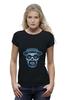 """Футболка Wearcraft Premium (Женская) """"Гейзенберг Череп"""" - skull, череп, во все тяжкие, breaking bad, гейзенберг, heisenberg, calavera, калавера, sugar"""