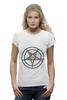 """Футболка Wearcraft Premium (Женская) """"Печать Бафомета #1"""" - дьявол, satan, сатана, devil"""