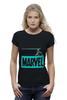 """Футболка Wearcraft Premium (Женская) """"iron bullet /// мстители"""" - мстители, железный человек, iron man, marvel comics, стальная пуля"""