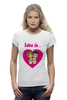 "Футболка Wearcraft Premium (Женская) ""love is..."" - heart, i love, love is"