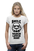 "Футболка Wearcraft Premium (Женская) ""Smile, Vader loves you!"" - star wars, darth vader, звездные войны"