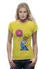 """Футболка Wearcraft Premium (Женская) """"Гомер с Пончиком"""" - симпсон, гомер, пончик, the simpsons, donut"""