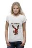 """Футболка Wearcraft Premium """"Playboy Британский флаг"""" - великобритания, плейбой, плэйбой, зайчик, playboy"""