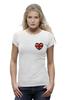 """Футболка Wearcraft Premium """"Heart"""" - прикольно, арт, девушка, авторские майки, модно, футболка, стиль, популярные, женская, рисунок"""