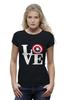 """Футболка Wearcraft Premium (Женская) """"Love (Captain America)"""" - капитан америка, captain america"""