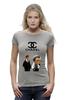 "Футболка Wearcraft Premium (Женская) ""Chanel"" - прикол, юмор, симпсоны, духи, бренд, fashion, коко шанель, brand, the simpsons, coco chanel"