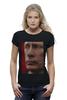 """Футболка Wearcraft Premium (Женская) """"Путин ВВ - точечный дизайнерский арт"""" - путин, putin, патриотические футболки, футболки с путиным"""