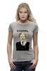 "Футболка Wearcraft Premium (Женская) ""Chanel"" - прикол, юмор, духи, бренд, fashion, brand, brad pitt, шанель, perfume, karl lagerfeld"