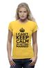 """Футболка Wearcraft Premium (Женская) """"I cant keep calm i am getting married"""" - свадьба, невеста, девичник, праздники, keep calm"""