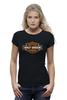 "Футболка Wearcraft Premium (Женская) ""Harley Davidson"" - мото, harley davidson, чоппер, харлей, kinoart"