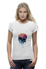 "Футболка Wearcraft Premium ""Bleeding skull"" - skull, череп, apple"