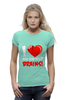 "Футболка Wearcraft Premium ""I Love Brains (Zombie)"" - зомби, мозги, brains"
