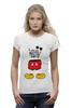 "Футболка Wearcraft Premium (Женская) ""Микки Маус (Mickey Mouse)"" - микки маус, mickey mouse"