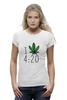 """Футболка Wearcraft Premium (Женская) """"Футболка """"4:20"""""""" - любовь, арт, cannabis, конопля, марихуана, каннабис"""
