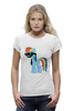 "Футболка Wearcraft Premium (Женская) ""My Little Pony - Rainbow Dash (Радуга)"" - радуга, pony, rainbow dash, mlp, пони"