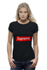 "Футболка Wearcraft Premium (Женская) ""Supreme "" - арт, supreme, nyc, clothing"
