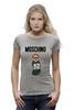"Футболка Wearcraft Premium (Женская) ""Moschino"" - прикол, юмор, бренд, fashion, brand, branding"