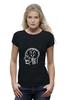 "Футболка Wearcraft Premium (Женская) ""Skull WOT"" - прикол, games, игры, игра, game, brain, логотип, world of tanks, танки, wot"
