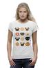 """Футболка Wearcraft Premium """"Собачки и печеньки"""" - пончик, бульдог, печенье, эклер"""