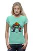 """Футболка Wearcraft Premium (Женская) """"Майнкрафт & Супер Марио"""" - minecraft, майнкрафт, nintendo, видеоигры, super mario bros"""