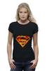 """Футболка Wearcraft Premium (Женская) """"Супермен"""" - comics, комикс, superman, супергерой, dc, superhero"""