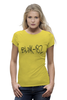 "Футболка Wearcraft Premium (Женская) ""blink-182 yellow logo"" - ava, blink 182, angels&airwaves, blink182, tomdelonge"